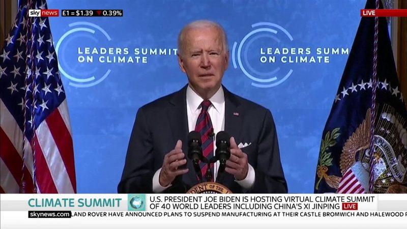 Joe Biden, la Giornata della Terra e le plastiche