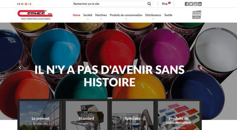 Sito web in francese per Comec Italia