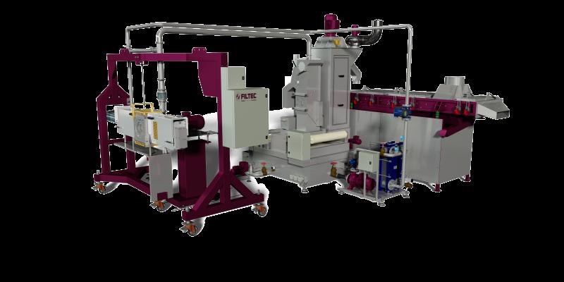 Filtec: sistemi di taglio, centrifughe, cambiafiltri