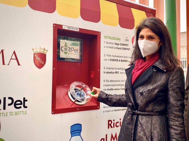 Diventano 25 gli eco-compattatori di bottiglie in PET a Roma